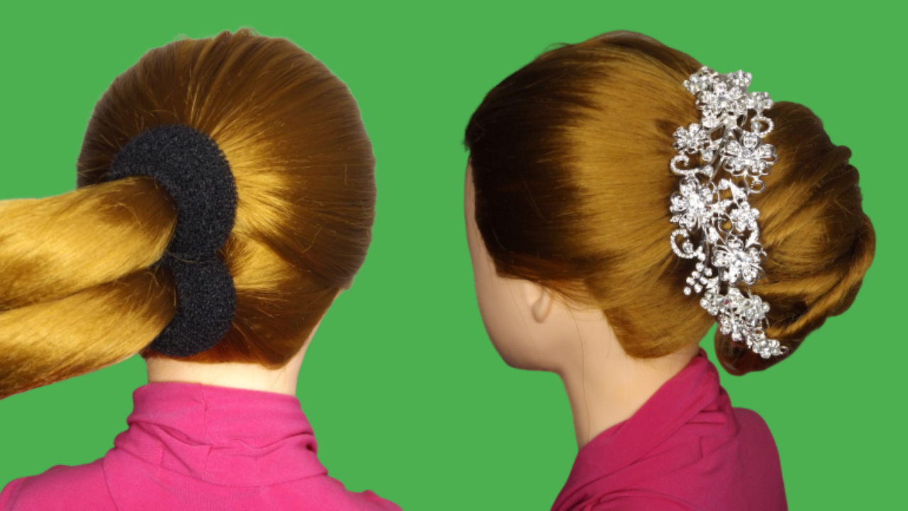 New French Bun Hairstyle Step By Step French Roll